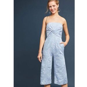 🆕 {{aijek}} Blue Embroidered Jumpsuit